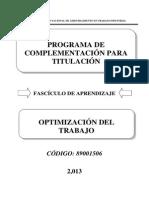 89001506 Optimización Del Trabajo