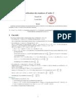 Classification des matrices réelles ou complexes d'ordre deux