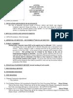 Council Agenda 12/15/2014