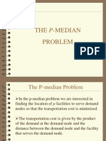 p-median model facility location