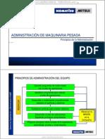 Material Principios Administracion Equipos Pesados Komatsu