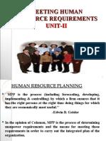Meeting Human Resource Requirements Unitunit-II