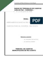 Herramientas Basicas Del Tribunal de Cuentas Para El Control Del Gasto