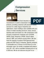 Custom Compression Molding Services