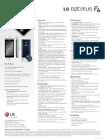 ESpecSheet LG Optimus F6