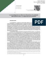 La Investigación en Servicio Social en El Contexto Latinoamericano