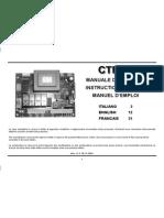 manual tarjeta ctr45 porton eléctrico