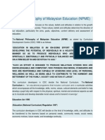 National Philosophy of Malaysian Education
