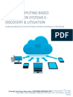 Cloud Computing Based Information System E-Discovery & Litigation