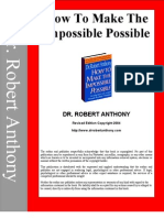 Dr. Robert Anthony -  How to Make the Impossible Possible