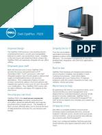Dell OptiPlex 7020 Technical Spec Sheet FINAL