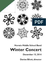 2014 Winter MS Band Program 12-15-14