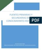 FUENTES PRIMARIAS Y SECUNDARIAS DEL CNOCIMIENTO HISTORICO.docx