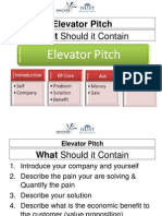 Discover Elevator Pitch Guidelines