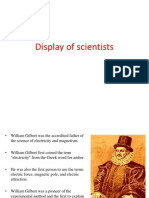 Display of Scientists