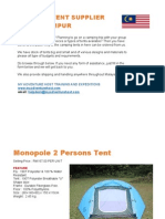 Camping Tent Supplier Kuala Lumpur