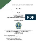 Syllabus B.Arch GNDU
