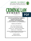 Criminal Law Memory Aid