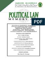 Political Law Memory Aid