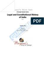 Legal and Constitutional History of India