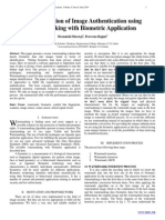 Implementation of Image Authentication using Watermarking with Biometric Application