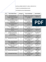 Jadwal Kuliah Ikgm IV Lokal Genap 2011