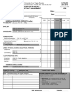 2014 15 DegreeWorksheet BS HospitalityMGMT Gaming