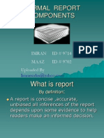 components of formal report