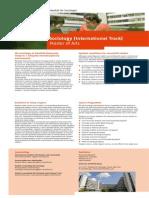 Flyer Sociology International Track