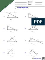 Triangle Angle Sum (1)