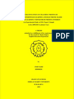 A Comparative Study on the Teaching of Writing by Paper-Based Portfolio Learning and Electronic-Based Portfolio Learning (An Experimental Study at SMAN 2 Sampit in the 2009/2010 Academic Year)