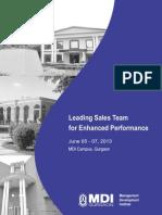 Leading Sales Team