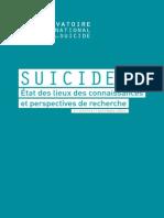 Rapport 2014 de l'Observatoire national du suicide