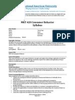 Mkt420 Consumer Behavior-131107