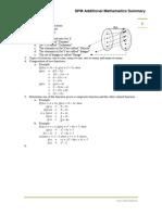 SPM Additional Mathematics Summary
