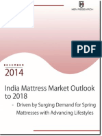 Market Outlook Mattress Market in India to 2018