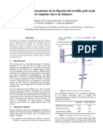 Análisis del comportamiento de la fijación del tornillo poli-axial del conjunto clavo de húmero