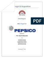M&a Pepsico Final Report Sample Assignment