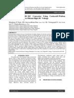 Transformerless DC-DC Converter Using Cockcroft-Walton Voltage Multiplier to Obtain High DC Voltage