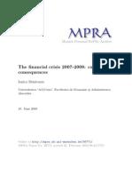 Criza Financiara 2007 - 2008