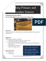 Primary Secondary Sources guide school