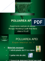 Poluarea Apei Experimente