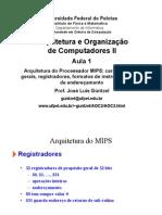 01 - MIPS - Conjunto e Formato de Instruções, Modos de Endereçamento