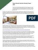Cara-Cara Menciptakan Desain Interior Ruang Tamu Dengan Nuansa Klasik