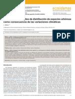 Cambios en los límites de distribución de especies arbóreas como consecuencia de las variaciones climáticas