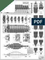 General Arrangement - Plano de Disposicion General. Portacontenedores de 2650 TEUs.