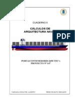 05. Naval Architecture - Arquitectura Naval. Portacontenedores de 2650 TEUs.