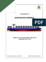 04. General Arrangement - Disposicion General. Portacontenedores de 2650 TEUs.