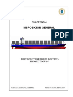04. General Arrangement - Disposicion General. Portacontenedores de 2650 TEUs.