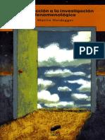Heidegger, Martin_Introducción a La Investigación Fenomenológica